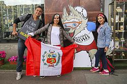 June 13, 2018 - Saint Petersburg, Russia - June 13, 2018. - Russia, Saint Petersburg. - Football fans from Peru ahead of the 2018 FIFA World Cup. (Credit Image: © Russian Look via ZUMA Wire)