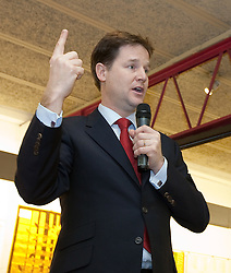© under license to London News Pictures. 05/01/2011. Nick Clegg joins party activists in Oldham today (05/01/2010) to campaign for the Oldham East and Saddleworth By-Election. Photo credit should read. Joel Goodman/ London News Pictures.