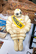Michelin Man on display in house clearance auction sale room, UK