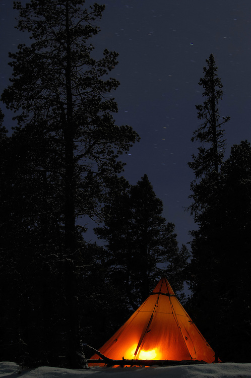 Winter camping, Laponia WHR, Lapland, Sweden