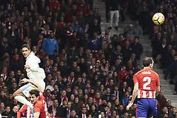 November 18, 2017 - Madrid, Spain - Raphael Varane (defender; Real Madrid) in action during La Liga match between Atletico de Madrid and Real Madrid at Wanda Metropolitano on November 18, 2017 in Madrid (Credit Image: © Jack Abuin via ZUMA Wire)