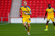 Wimbledon midfielder Mitch Pinnock (11) in action  during the EFL Sky Bet League 1 match between Doncaster Rovers and AFC Wimbledon at the Keepmoat Stadium, Doncaster, England on 17 November 2018.