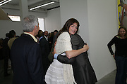 Larry Gagosian, Stephanie Seymour and Jeff Koons, Jeff Koons: Hulk Elvis. private view. Gagosian Gallery. 18 1une 2007.  -DO NOT ARCHIVE-© Copyright Photograph by Dafydd Jones. 248 Clapham Rd. London SW9 0PZ. Tel 0207 820 0771. www.dafjones.com.
