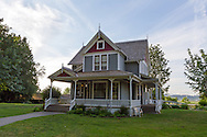 The Victorian farmhouse at the historic Stewart Farm in Elgin Heritage Park in Surrey, British Columbia, Canada. The farmhouse was built in 1894 by Surrey pioneer John Stewart.