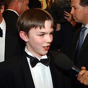 Premiere About a boy, Hugh Grant en Nicholas Hoult