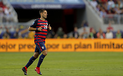 July 26, 2017 - Santa Clara, CA, USA - Santa Clara, CA - Wednesday July 26, 2017: Clint Dempsey  during the 2017 Gold Cup Final Championship match between the men's national teams of the United States (USA) and Jamaica (JAM) at Levi's Stadium. (Credit Image: © Bob Drebin/ISIPhotos via ZUMA Wire)