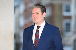 © Licensed to London News Pictures. 05/01/2020. London, UK. Labour Leadership Contender and Shadow Brexit Secretary Keir Starmer arrives at BBC Broadcasting House to appear on the Andrew Marr Show. Photo credit: Rob Pinney/LNP