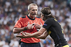 May 2, 2017 - Madrid, Spain - Filipe Luis (defender; Atletico Madrid) watched the Champions League, semifinal match between Real Madrid and Atletico de Madrid at Santiago Bernabeu Stadium on May 2, 2017 in Madrid, Spain (Credit Image: © Jack Abuin via ZUMA Wire)