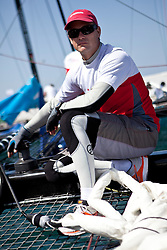 Andy Fethers. Second day of Racing, 21st of February. Extreme Sailing Series, Act 1, Muscat, Oman (20 - 24 February 2011)  Sander van der Borch / Artemis Racing
