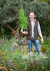 Nick Bailey in the Winton Beauty of Mathematics garden, RHS Chelsea Flower show 2016
