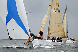 The Clyde Cruising Club's Scottish Series held on Loch Fyne by Tarbert. .Day 4 Racing with a wet Southerly to start clearing up for the last race...FRA37296, Salamander XXI ,John Corson ,CCC , First 35