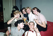 CS01449-05 Portland State College students at cocktail party 1955.