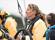 "The Seven Star Triple Crown as part of Lendy Cowes week 2017. The Volvo Ocean Race ""Turn the Tide on Plastic"" skipper Dee Caffari<br /> Credit Lloyd Images"