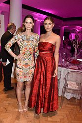 Left to right, Charlotte de Carle and Ashley James at the Floral Ball in aid of Sheba Medical Center hosted by Laura Pradelska and Zoe Hardman and held at One Marylebone, 1 Marylebone Road, London England. 14 March 2017.
