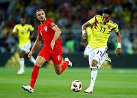 Jordan Henderson (England) and Johan Mojica (Colombia) <br /> Moscow 03-07-2018 Football FIFA World Cup Russia 2018 <br /> Colombia - England / Colombia - Inghilterra<br /> Foto Matteo Ciambelli/Insidefoto