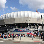 Red Bull Arena before the New York Red Bulls Vs NYCFC, MLS regular season match at Red Bull Arena, Harrison, New Jersey. USA. 10th May 2015. Photo Tim Clayton