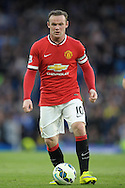 Wayne Rooney, the Manchester United captain in action. Barclays Premier league match, Chelsea v Manchester Utd at Stamford Bridge Stadium in London on Saturday 18th April 2015.<br /> pic by John Patrick Fletcher, Andrew Orchard sports photography.