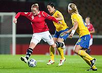 Fotball<br /> Semifinale EM kvinner 2009<br /> 04.09.2009<br /> Sverige v Norge<br /> Foto: Jussi Eskola/Digitalsport<br /> NORWAY ONLY<br /> <br /> Isabell Herlovsen, Therese Sjögran