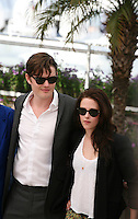 Sam Riley, Kristen Stewart at the On The Road photocall at the 65th Cannes Film Festival France. The film is based on the book of the same name by beat writer Jack Kerouak and directed by Walter Salles. Wednesday 23rd May 2012 in Cannes Film Festival, France.