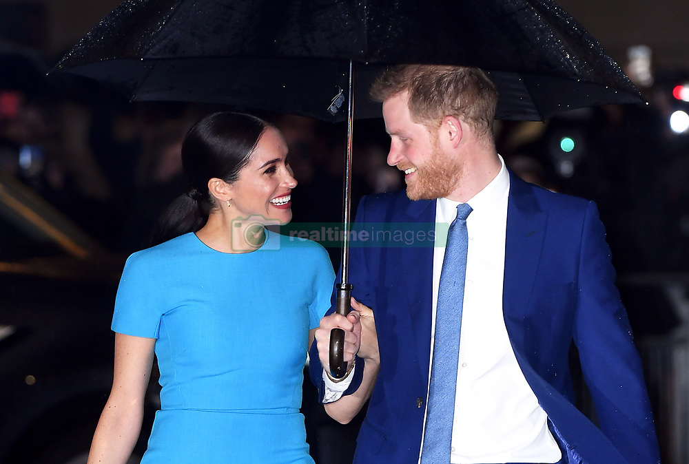 The Duke and Duchess of Sussex attending the Endeavour Fund Awards held at the Mansion House, London on Thursday March 5, 2020. Photo credit should read: Doug Peters/EMPICS