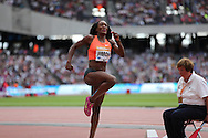 Fungi Jimoah in the Long Jump of the USA during the Sainsbury's Anniversary Games at the Queen Elizabeth II Olympic Park, London, United Kingdom on 25 July 2015. Photo by Phil Duncan.