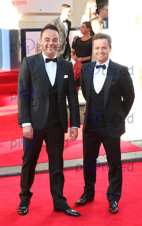 Anthony McPartlin; Declan Donnelly, Arqiva British Academy Television Awards - BAFTA, Theatre Royal Drury Lane, London UK, 18 May 2014, Photo by Richard Goldschmidt