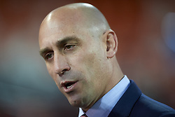 March 23, 2019 - Valencia, Valencia, Spain - Luis Rubiales president of Spanish Federation during the 2020 UEFA European Championships group F qualifying match between Spain and Norway at Estadi de Mestalla on March 23, 2019 in Valencia, Spain. (Credit Image: © Jose Breton/NurPhoto via ZUMA Press)