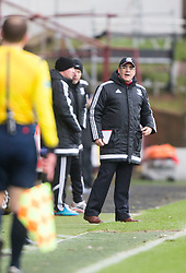 Ayr United's manager Ian McCall. <br /> Dunfermline 3 v 2 Ayr United, Scottish League One played at East End Park, 13/2/2016.