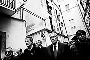 PM candidate for Liberi e Uguali (Free and Equal) Pietro Grasso visiting the old part of Bari, during the electoral campaing for the political elections. Bari 23 February 2018. Christian Mantuano / OneShot