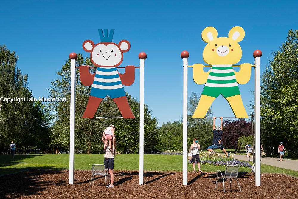 Children's playground at IGA 2017 International Garden Festival (International Garten Ausstellung) in Berlin, Germany