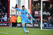 Tottenham Hotspur Goalkeeper, Hugo Lloris (1) during the Premier League match between Bournemouth and Tottenham Hotspur at the Vitality Stadium, Bournemouth, England on 22 October 2016. Photo by Adam Rivers.