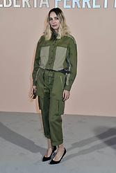 Milan Fashion Week Fashion for women autumn winter 2019 - 2020. Alberta Ferretti fashion show arrivals. In the photo: Candle