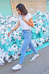Kendall Jenner poses in front of Tiffany blue installation. 03 May 2018 Pictured: Kendall Jenner. Photo credit: MEGA TheMegaAgency.com +1 888 505 6342