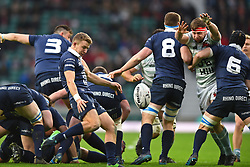 December 7, 2017 - London, England, United Kingdom - Oxford University Tom Kershaw clears his lines during the Mens Varsity match between Oxford University  and Cambridge University  at Twickenham Stadium, London, England on 7 Dec 2017. (Credit Image: © Kieran Galvin/NurPhoto via ZUMA Press)