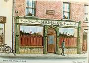 Randon Images of postcard drawings from Ireland, Hamills Ardee 1987, Old amateur photos of Dublin streets churches, cars, lanes, roads, shops schools, hospitals