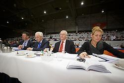 Jury springen<br /> Wim Versteeg, Cor Loeffen, Daan Nanning, Hester Klompmaker<br /> KWPN Stallion Selection - 's Hertogenbosch 2014<br /> © Dirk Caremans