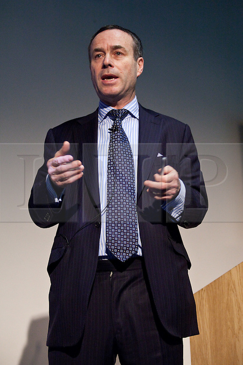 © under license to London News Pictures. 30/01/11. Lionel Barber, editor of the Financial Times, addresses assembled members of the media at the annual Cudlipp Lecture at the London College of Communication. Credit should read Matt Cetti-Roberts/LNP