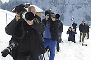 Fotosessie met de koninklijke familie in Lech /// Photoshoot with the Dutch royal family in Lech .<br /> <br /> Op de foto / On the photo: The Press