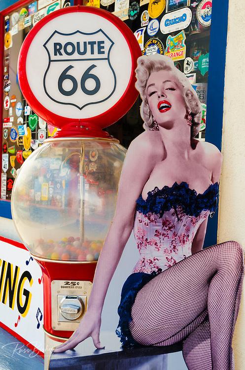 Marilyn Monroe sign on historic Route 66, Seligman, Arizona USA