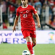 Turkey's Omer Toprak during their FIFA World Cup 2014 qualifying soccer match Turkey betwen Estonia at Sukru Saracoglu stadium in Istanbul September 11, 2012. Photo by TURKPIX