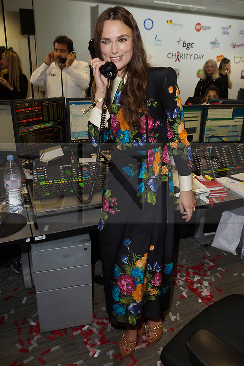 © Licensed to London News Pictures. 11/09/2017. Actress KIERA KNIGHTLEY<br />  takes part in the on the annual BGC Partners Charity Day in commemoration of its 658 friends and colleagues and 61 Eurobroker employees lost in the World Trade Center attacks on 9/11. PIcture Credit: Tang/LNP
