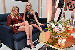 Left to right, CHELSEA LEYLAND and PHOEBE COLLINGS JAMES at a dinner to celebrate the exclusive Capsule collection: Maison Michel by Karl Lagerfeld held at Selfridges, 400 Oxford Street, London on 23rd February 2015.