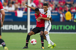 July 15, 2017 - Carson, California, U.S - Manchester United F Marcus Rashford (19) and Los Angeles Galaxy D Hugo Arellano (21) in action during the summer friendly between Manchester United and the Los Angeles Galaxy at the StubHub Center. (Credit Image: © Brandon Parry via ZUMA Wire)