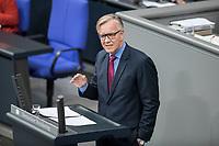 14 FEB 2019, BERLIN/GERMANY:<br /> Dietmar Bartsch, MdB, Die Linke,, Fraktionsvorsitzender, Bundestagsdebatte, Plenum, Deutscher Bundestag<br /> IMAGE: 20190214-01-028<br /> KEYWORDS: Bundestag, Debatte
