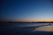 Newport, Ri - Goosebery beach on a tranguil evening as sunset fades and dusk settles
