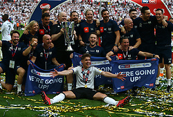 May 26, 2018 - London, England, United Kingdom - Back staff and Fulham's Tom Cairney with Trophy.during the Championship Play-Off Final match between Fulham and Aston Villa at Wembley, London, England on 26 May 2018. (Credit Image: © Kieran Galvin/NurPhoto via ZUMA Press)