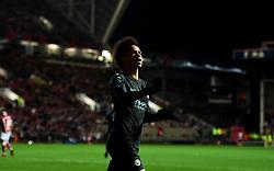 Leroy Sane of Manchester City celebrates  - Mandatory by-line: Joe Meredith/JMP - 23/01/2018 - FOOTBALL - Ashton Gate Stadium - Bristol, England - Bristol City v Manchester City - Carabao Cup Semi Final second leg