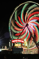 Time laps photos of Carnival rides at Mariposa county Fair  Labor Day weekend 2012