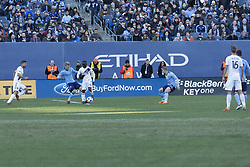 March 11, 2018 - New York, New York, United States - Emmanuel Boateng (24) of LA Galaxy controls ball during regular MLS game against NYC FC at Yankee stadium NYC FC won 2 - 1  (Credit Image: © Lev Radin/Pacific Press via ZUMA Wire)