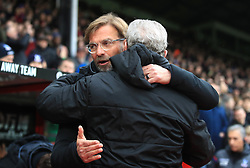 Liverpool manager Jurgen Klopp (left) and Crystal Palace manager Roy Hodgson during the Premier League match at Selhurst Park, London.
